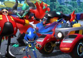 Eggman, Zavok, e Metal Sonic em Team Sonic Racing