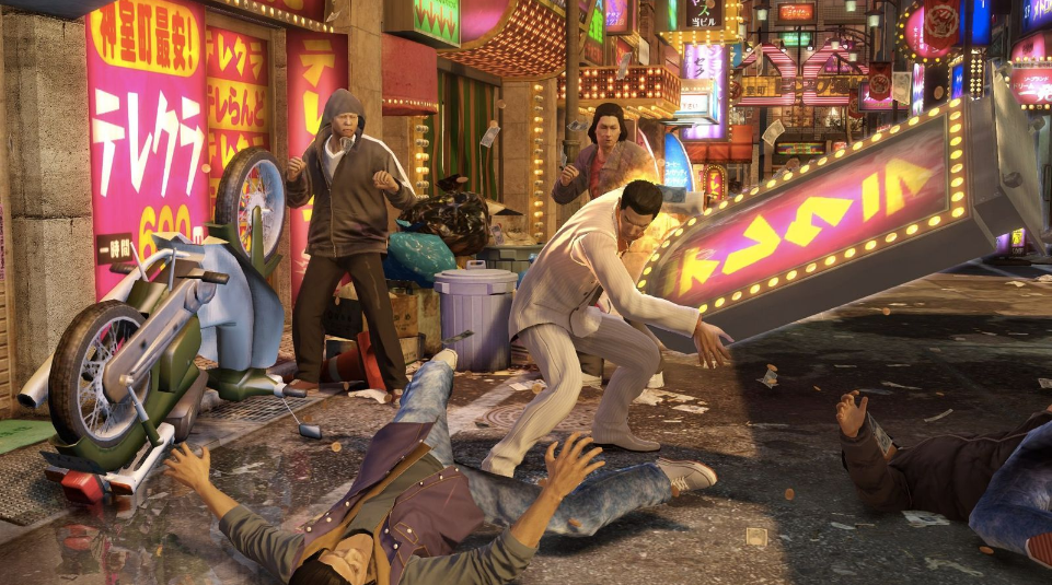 Screenshot de gameplay de Yakuza 0