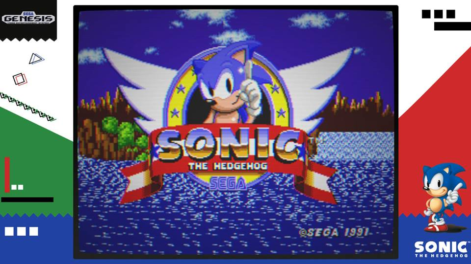 Tela de título de Sega Ages: Sonic the Hedgehog