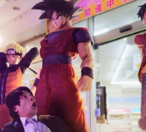 Naruto, Goku e Luffy em comercial de Jump Force