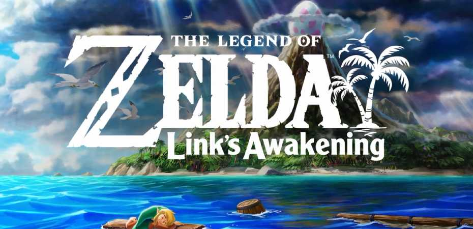 Arte e logotipo do remake de The Legend of Zelda: Link's Awakening