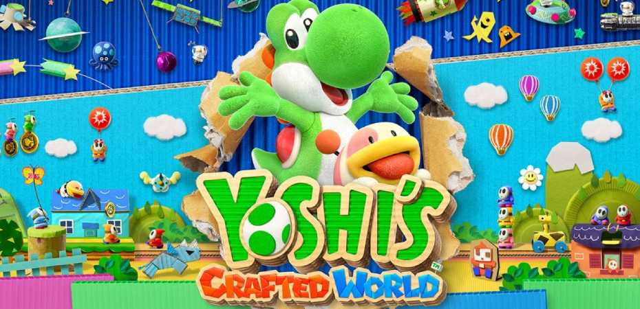 Arte e logotipo de Yoshi's Crafted World