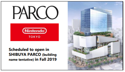 "Primeira loja física oficial da Nintendo, ""Nintendo Tokyo"" no futuro edifício ""Shibuya Parco"""