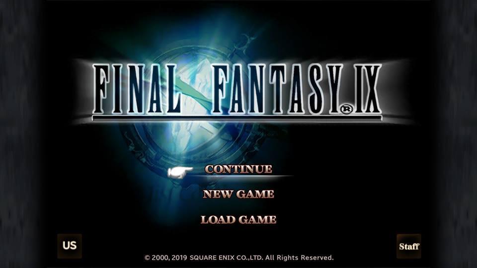 Tela de título da versão para Switch de Final Fantasy IX