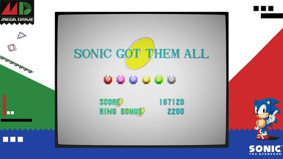 Tela de gameplay de Sega Ages: Sonic the Hedgehog