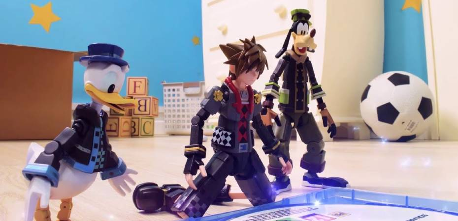 Captura de tela do trailer stop-motion de Kingdom Hearts III