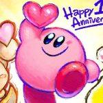 Ilustração comemorativa de aniversário de Kirby Star Allies
