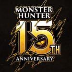 Logo comemorativo de 15 anos de Monster Hunter