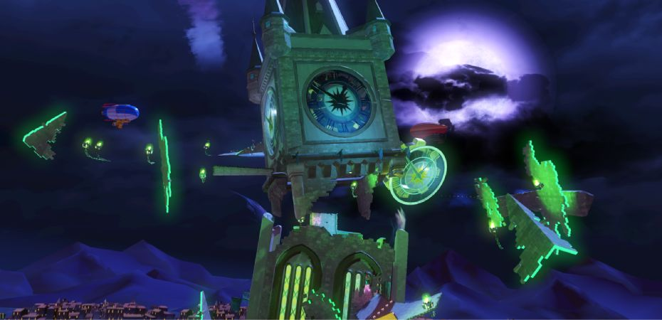 Imagem da pista Haunted Castle de Team Sonic Racing