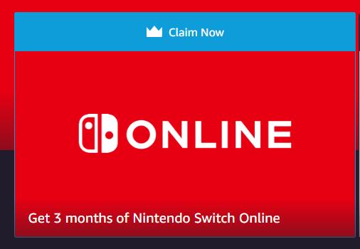 Captura de tela do site da Twitch oferecendo inscrição no Nintendo Switch Online