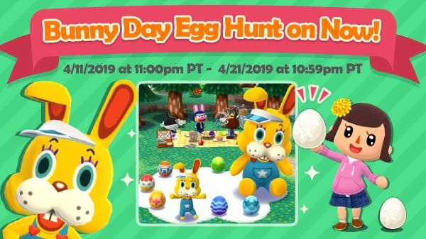 Imagem promocional de páscoa para Animal Crossing: Pocket Camp