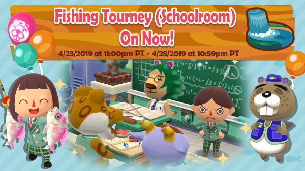 Imagem promocional do torneio de pesca de Animal Crossing: Pocket Camp