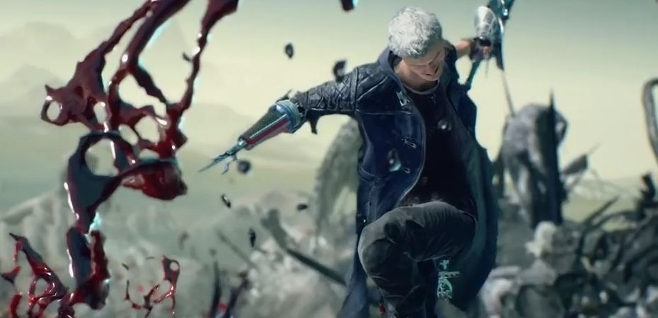 Screenshot do modo Bloody Palace de Devil May Cry 5