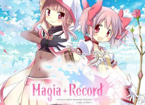 Arte e logotipo de Magia Record: Puella Magi Madoka Magica Side Story