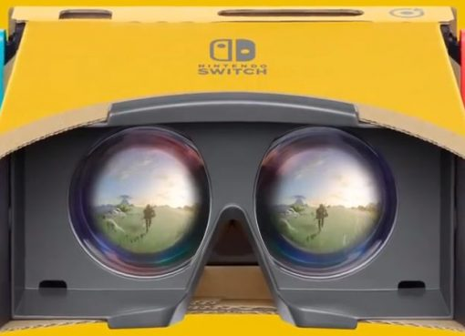 Imagem promocional do Nintendo Labo Toy-Con VR Kit para The Legend of Zelda: Breath of the Wild