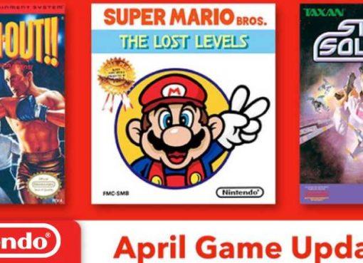 Jogos de abril do Nintendo Switch Online