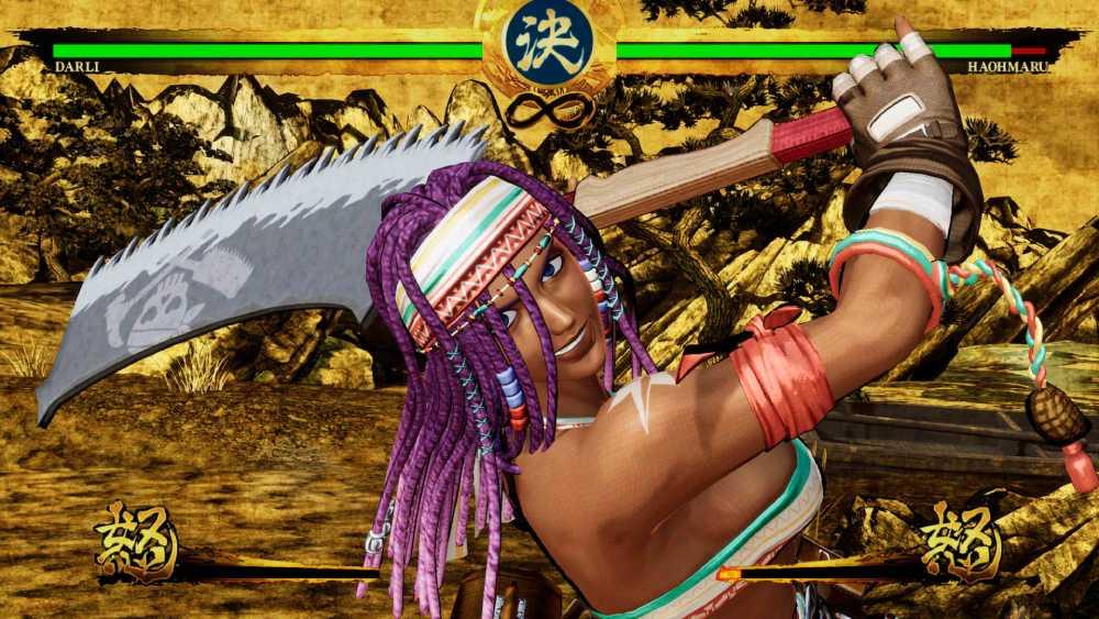 Screenshot de Darli Dagger em Samurai Shodown