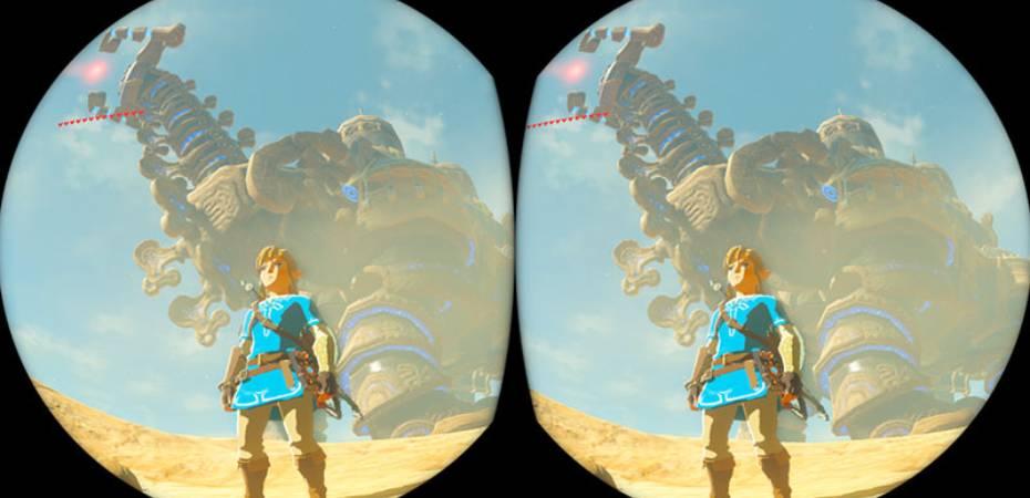 <i>Breath of the Wild</i> em realidade virtual ganha mais detalhes