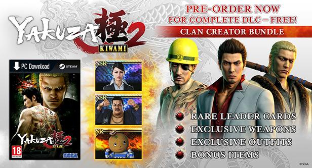 Conteúdo bônus de pré-venda do jogo Yakuza Kiwami 2 para PC