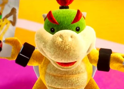 Screenshot de Bowser Jr. em Yoshi's Crafted World