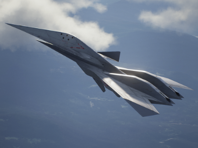 Screenshot do jato ADF-11F Raven de Ace Combat 7: Skies Unknown