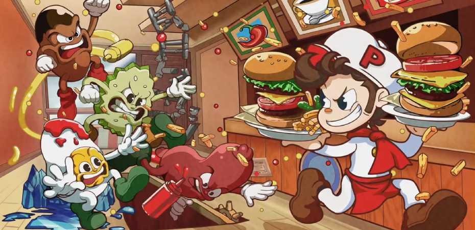 Arte de BurgerTime Party!