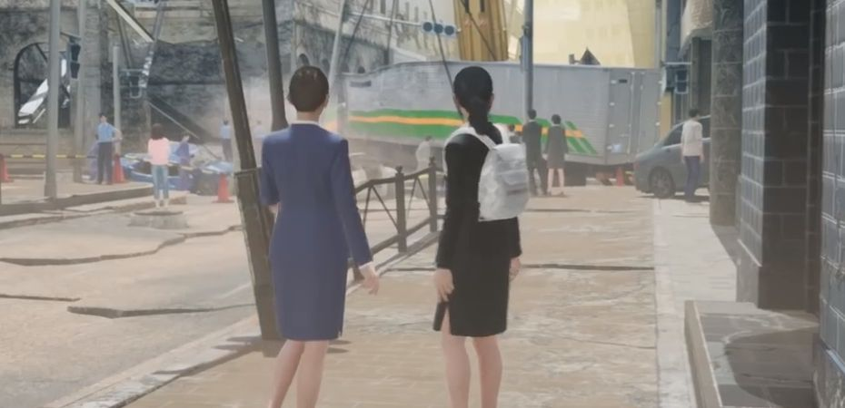 Screenshot da versão para Nintendo Switch de Disaster Report 4 Plus: Summer Memories