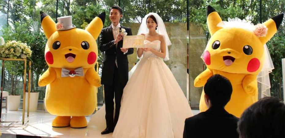 Foto de casamento temático de Pokémon