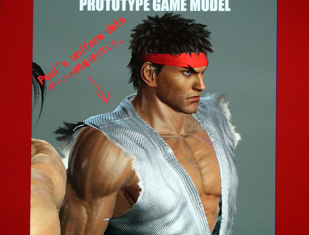 Imagem do modelo 3D protótipo de Ryu em Tekken X Street Fighter