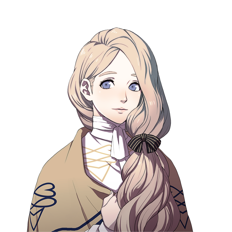 Arte da personagem Mercedes de Fire Emblem: Three Houses