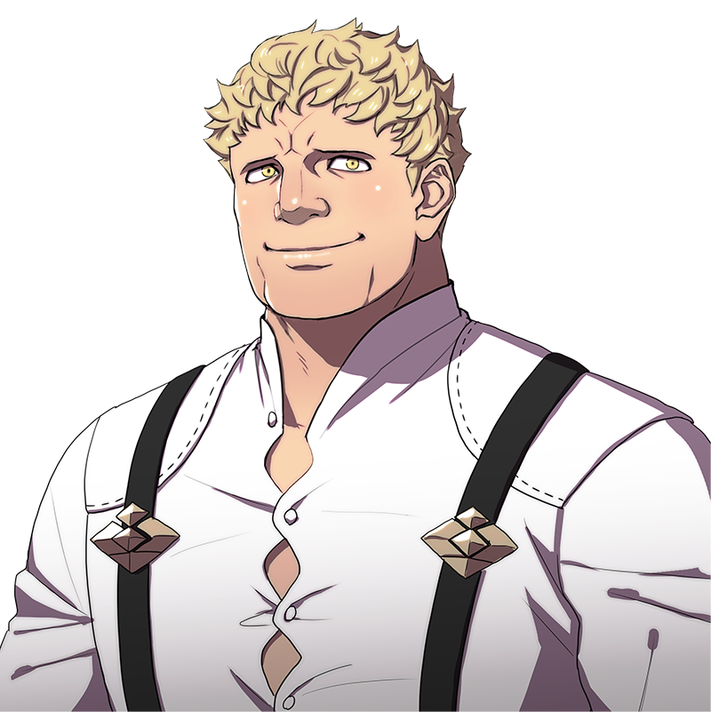 Arte do personagem Raphael de Fire Emblem: Three Houses