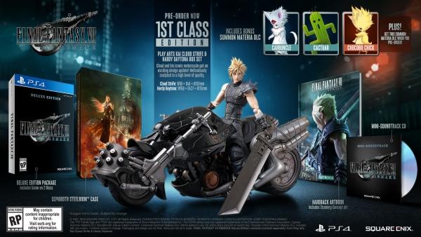 Conteúdo da edição 1st Class de Final Fantasy VII Remake