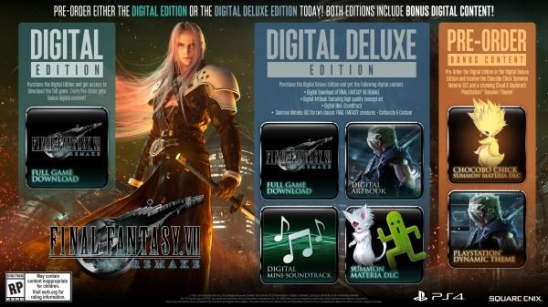 Conteúdo da edição Digital Deluxe de Final Fantasy VII