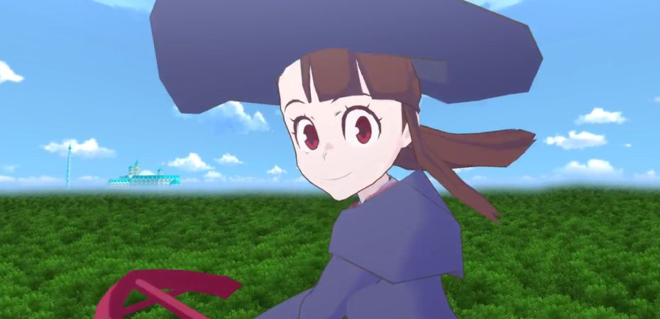 Captura de tela do teaser trailer de Little Witch Academia: VR Broom Racing