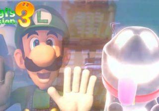 Captura de tela do vídeo de abertura de Luigi's Mansion 3
