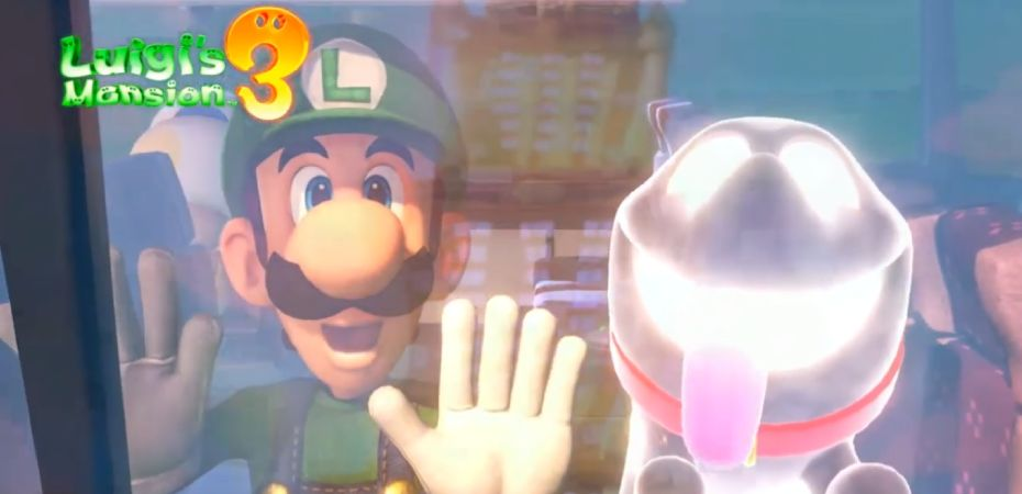 Captura de tela do vídeo de abertura de Luigi's Mansion 3