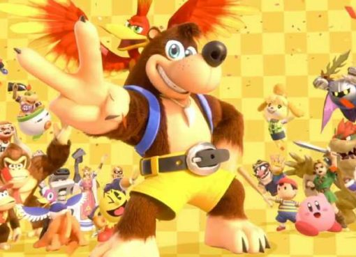 Captura de tela do trailer de anúncio de Banjo e Kazooie em Super Smash Bros. Ultimate