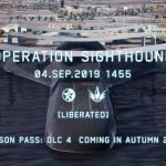 Captura de tela do trailer da Operation Sighthound de Ace Combat 7: Skies Unknown