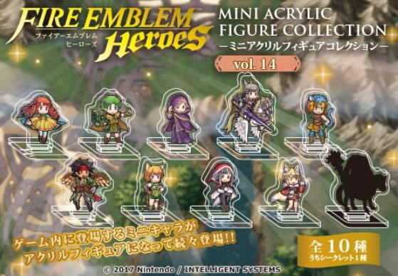 Imagem da coleção de figuras acrílicas de Fire Emblem Heroes