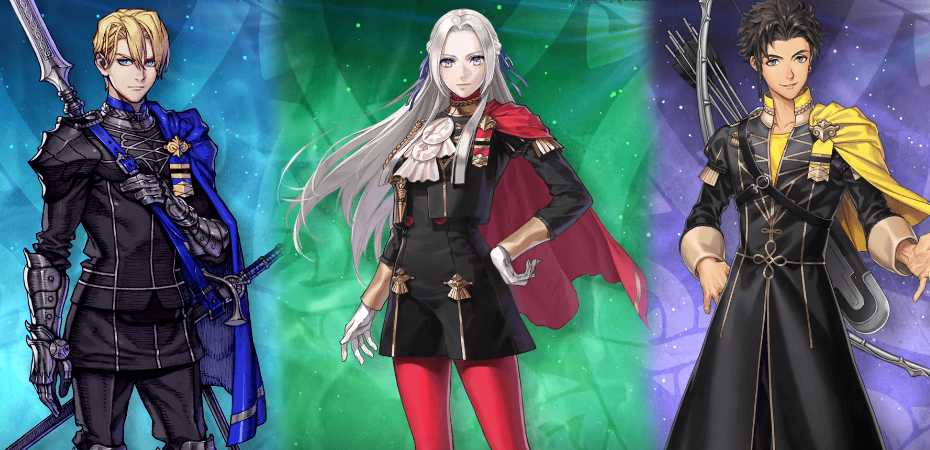 Arte de personagens de Fire Emblem: Three Houses em Fire Emblem Heroes