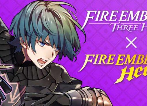 Imagem promocional de colaboração entre Fire Emblem: Three Houses e Fire Emblem Heroes