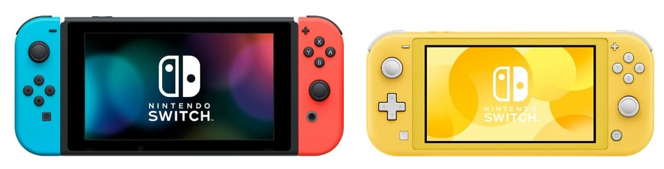 Imagem do Nintendo Switch e Nintendo Switch Lite