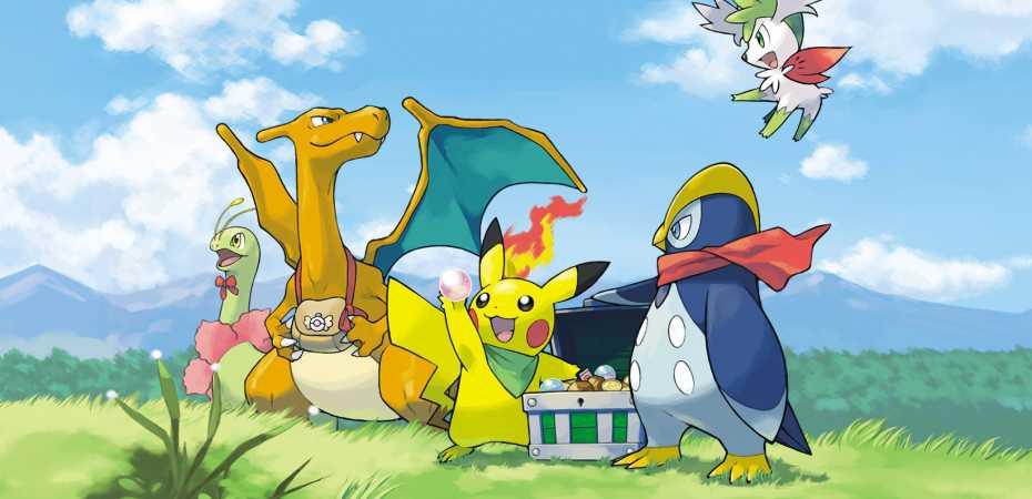 Arte de Pokémon Mystery Dungeon: Explorers of Sky