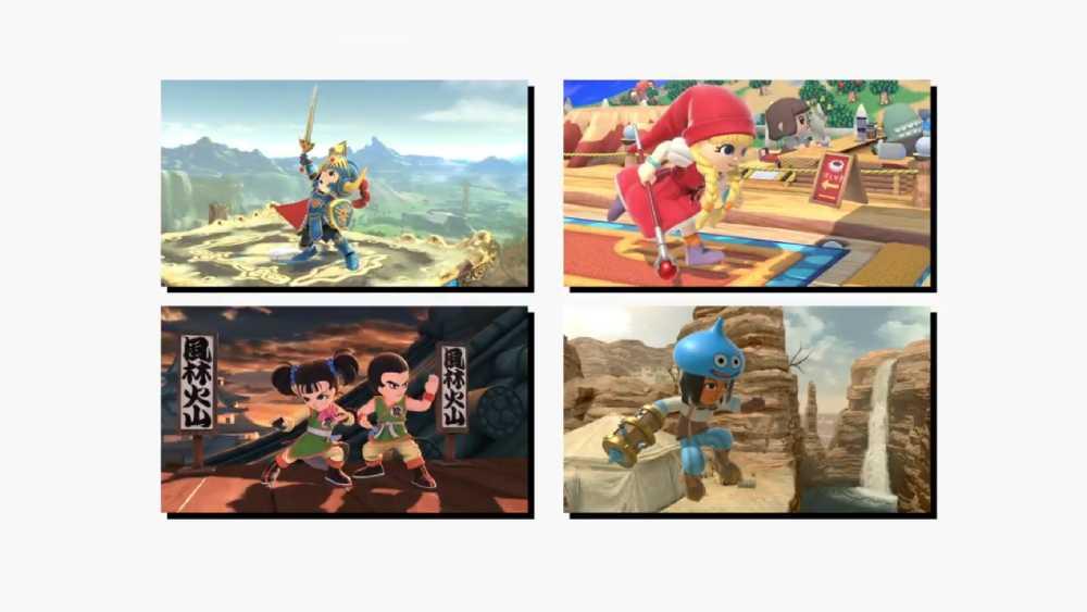 Imagens das roupas de Dragon Quest para os Mii Fighters de Super Smash Bros. Ultimate