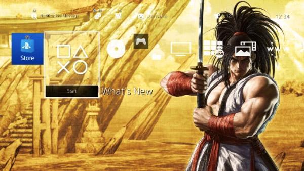 Tema dinâmico de PlayStation 4 de Samurai Shodown
