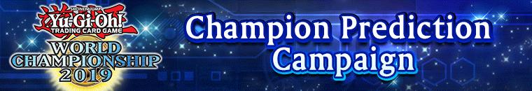Imagem da Campanha de Predição de Campeão do torneio mundial de 2019 de Yu-Gi-Oh! Duel Links