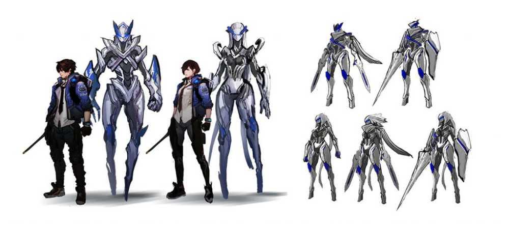 "Arte conceitual do ""Legion"" Sword de Astral Chain"