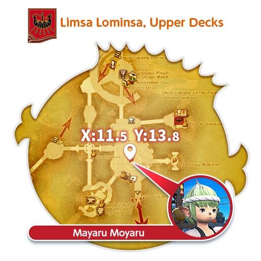 Mapa de Limsa Lominsa em Final Fantasy XIV