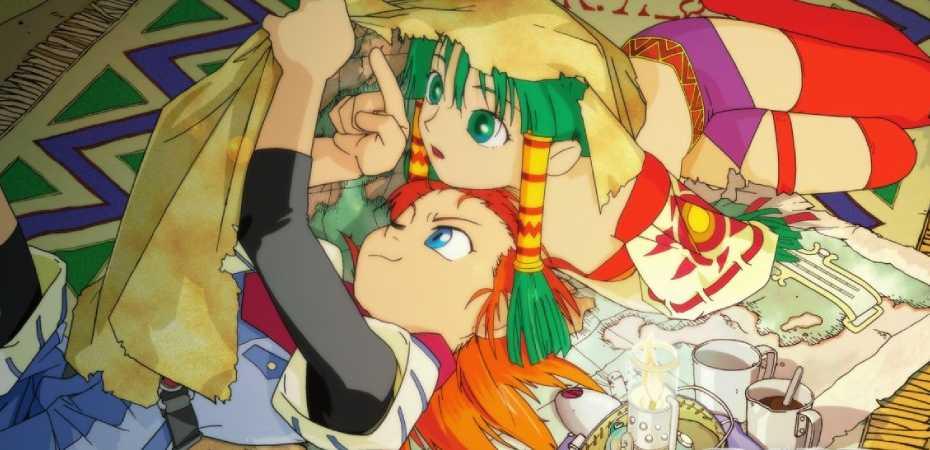 Arte do jogo Grandia que será incluído na coleção Grandia HD Collection