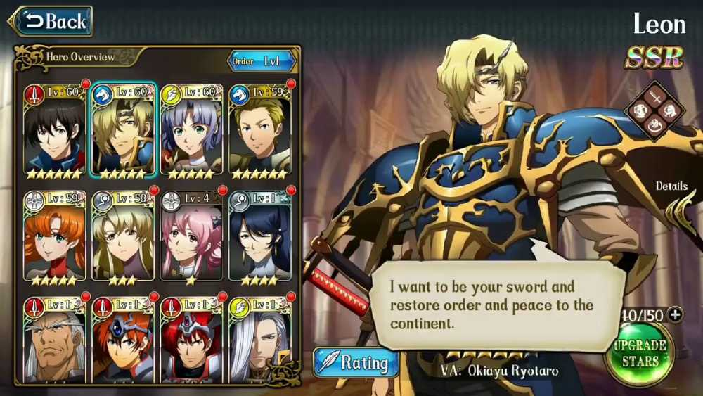 Screenshot de Langrisser Mobile